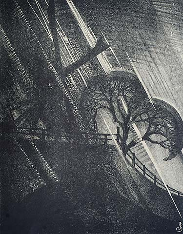 The Shower - JAN SCHONK - lithograph