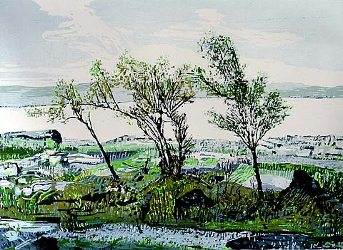 Scottish Landscape -   - woodcut printed in colors