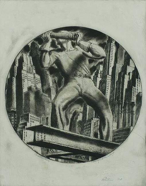 Construction - HARRY STERNBERG - etching and aquatint