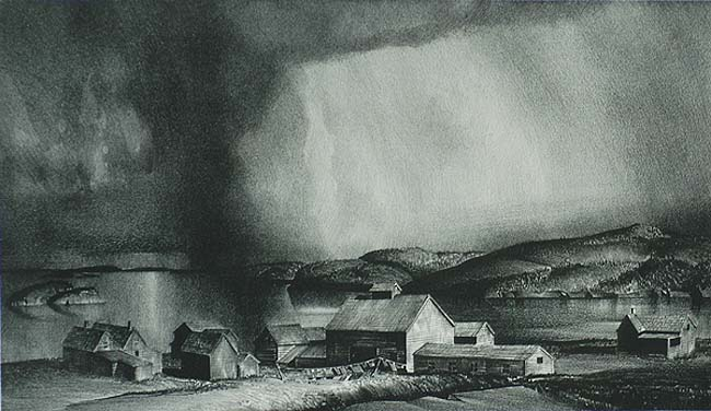 Descending Skies (Eastport, Maine) - STOW WENGENROTH - lithograph