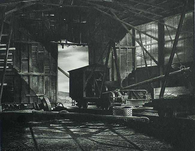 Foundry Interior - STOW WENGENROTH - lithograph