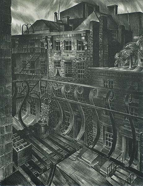 City Street (New York City) - STOW WENGENROTH - lithograph