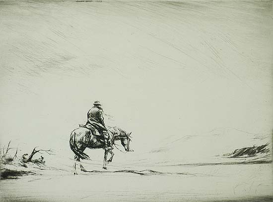 Snow Swept - LEVON WEST - etching