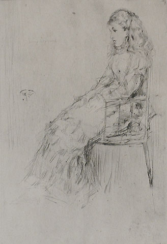 Fanny Leyland - JAMES A. MCNEILL WHISTLER - drypoint