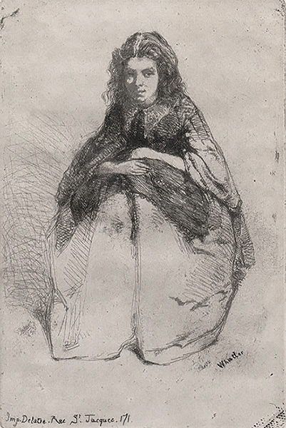 Fumette - JAMES A. MCNEILL WHISTLER - etching