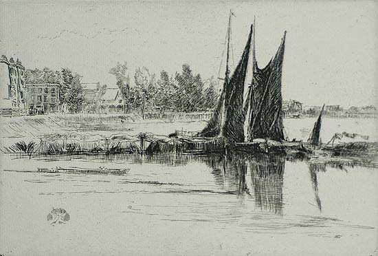 Hurlingham - JAMES A. MCNEILL WHISTLER - etching