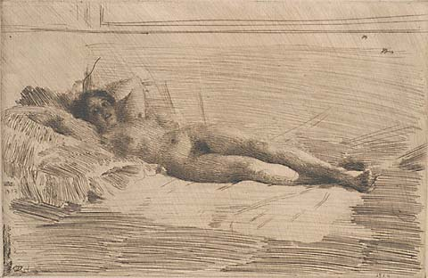 Elin - ANDERS ZORN - Etching