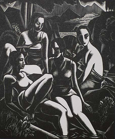 Composition - JOHN BUCKLAND-WRIGHT - wood engraving