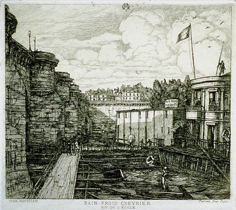 Bain-Froid Chevrier - CHARLES MERYON - etching