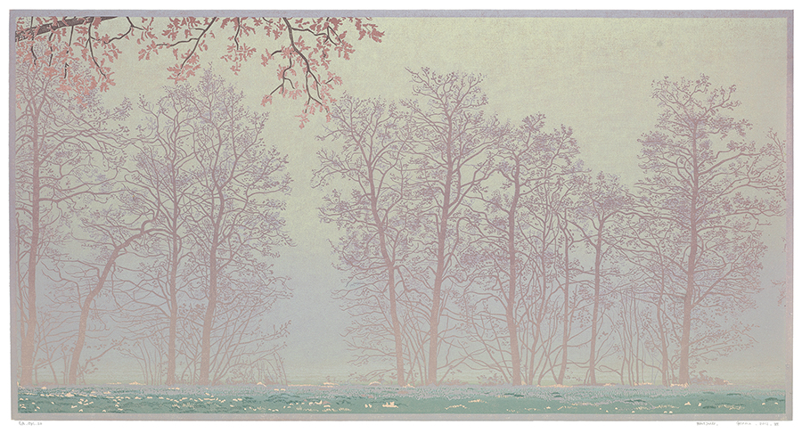 Landscape 2012-VII - GRIETJE POSTMA - woodcut printed in colors