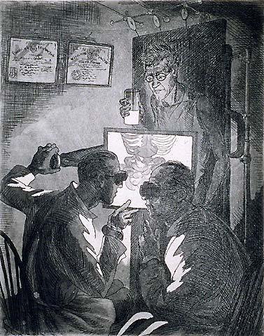 X-Rays - JOHN SLOAN - etching and aquatint