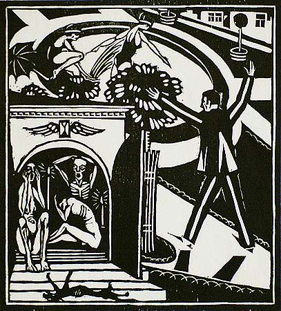 La Dormeuse (The Sleeper) - HENRI VAN STRATEN - suite of seven linocuts
