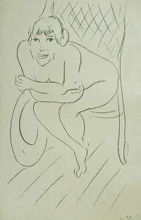 Nude in a Rocking Chair (Nu au Rocking Chair) -  MATISSE