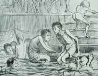 Bathers beginning to discover that in September... (Baigneurs commençant à trouver qu'en septembre... ) -  DAUMIER