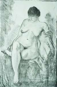 Nude Woman Seated (third state) -  BELLOWS