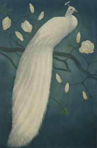 White Peacock on a Magnolia Branch (Witte Pauw op een Magnoliatak) -  EVERBAG