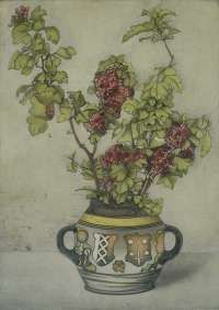 Hawthorn Branches in a Vase with the Coat of Arms of Amsterdam and Haarlem (Takken Meidoorn in een vase met het...) -  EVERBAG