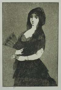 Exotic Flower (Woman in a Mantilla) Fleur Exotic (La Femme a la Mantille) -  MANET