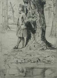 Seymour Standing under a Tree -  WHISTLER