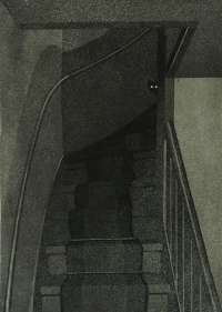 Cat at the top of a Dark Staircase -  HENDRIKS
