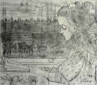 The Artist's Daughter (Charley) by the Window -  TOOROP