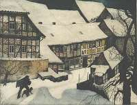 A Village Covered in Snow -  LANGASKENS