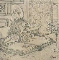 Charley Plaatjes Kijkend (Charley Looking at Book Illustrations) -  TOOROP