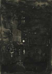 Fire Scene at Night (New York) -  SHINN