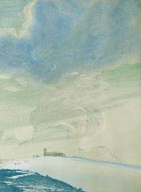 Castle on a Hill in Winter -  GILES